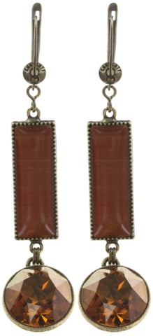 earring dangling Float to the Rhythm brown/orange antique brass