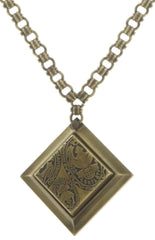necklace pendant Iceberg De Luxe beige antique brass