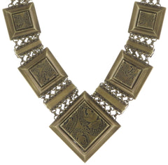 necklace collier Iceberg De Luxe beige antique brass