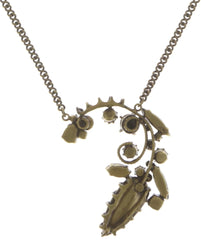 necklace pendant La Maitresse lila antique brass