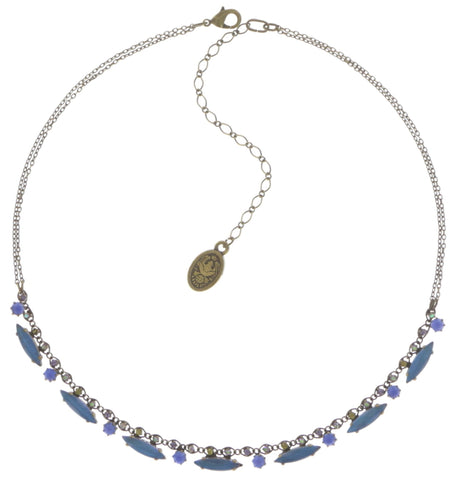 necklace La Maitresse lila antique brass