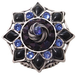 ring Arabic Nights blue antique silver medium