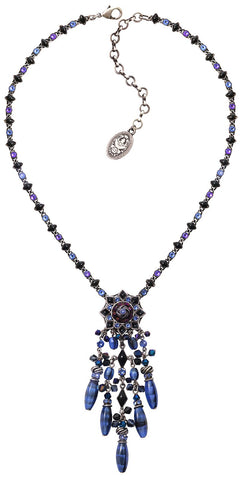 necklace-Y Arabic Nights blue antique silver medium