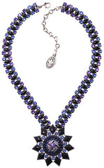 necklace Arabic Nights blue antique silver extra large