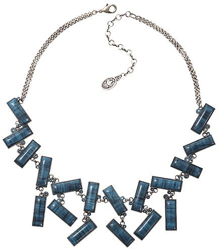 necklace Float to the Rhythm blue antique silver