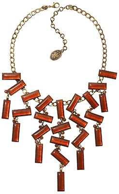 necklace collier Float to the Rhythm brown/orange antique brass