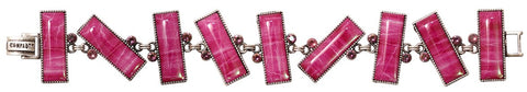 bracelet Float to the Rhythm pink antique silver