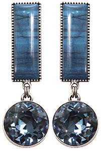 earring stud dangling Float to the Rhythm blue antique silver