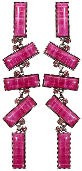 earring stud dangling Float to the Rhythm pink antique silver