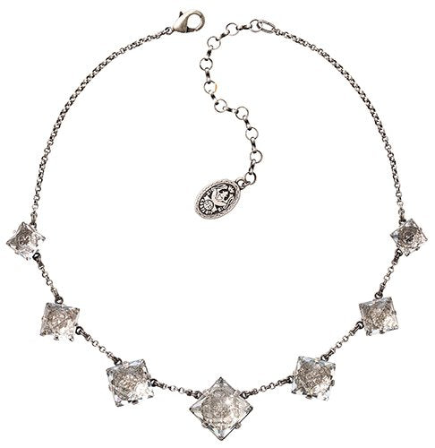 necklace Iceberg De Luxe white antique silver size XL,L,M,S