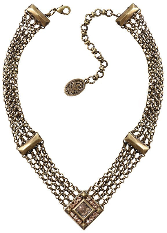 necklace Iceberg De Luxe beige antique brass