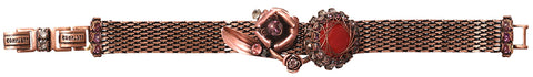 bracelet In Honor of the Rose red antique copper