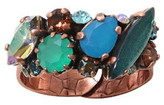 ring La Maitresse brown/green antique copper