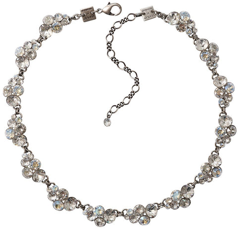 necklace collier Petit Glamour icy white antique silver