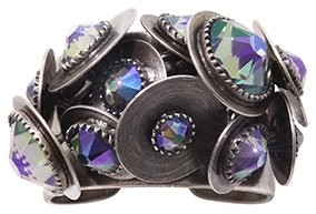 ring Reptile Meteor blue/violet antique silver