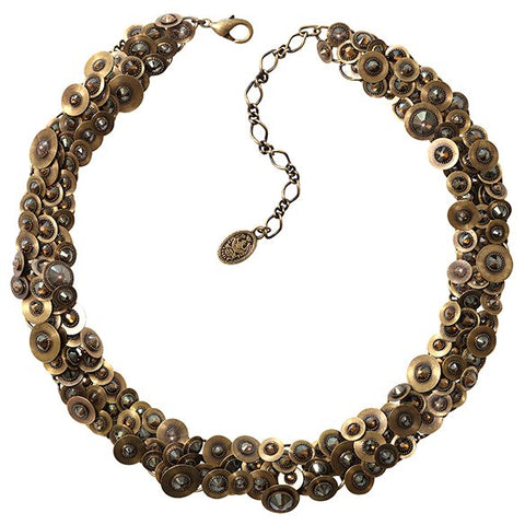 necklace Reptile Meteor brown antique brass