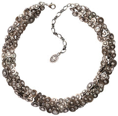 necklace Reptile Meteor white antique silver