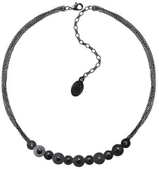 necklace Reptile Meteor black dark antique silver