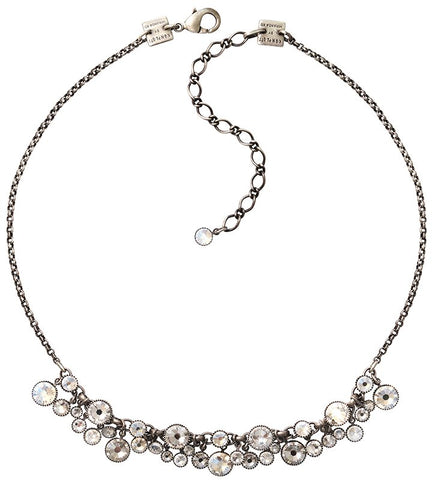necklace Waterfalls white antique silver