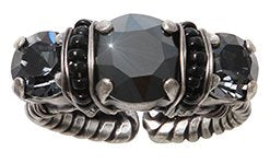 ring Byzantine black antique silver