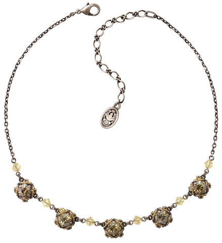 necklace Byzantine yellow/grey antique silver
