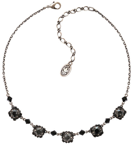 necklace Byzantine black antique silver