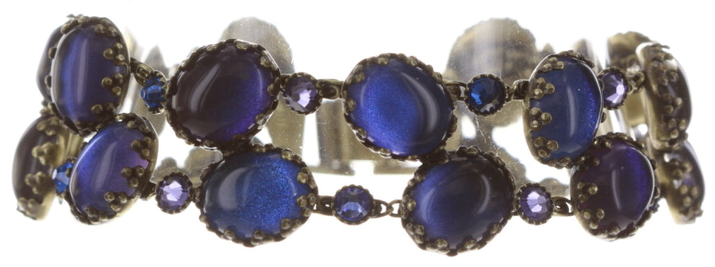 bracelet Melody Drops blue/lila antique brass