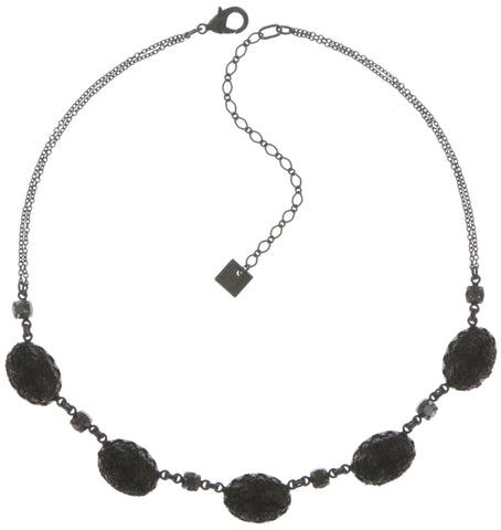necklace Liam black dark antique silver