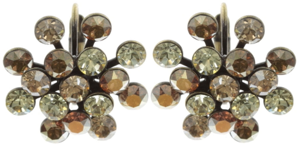 earring eurowire Magic Fireball yellow antique brass Classic Size (21mm Ø)