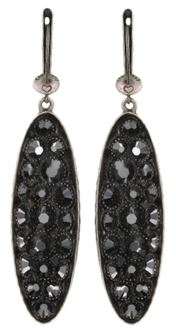 earring dangling Back To The Future black antique silver