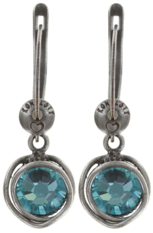 earring dangling Sparkle Twist blue antique silver