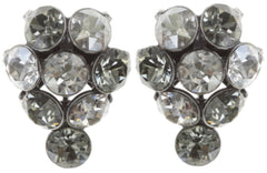 earring stud Magic Fireball white/grey antique silver