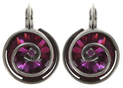 earring eurowire Classic Twist dark rose antique silver 14mm