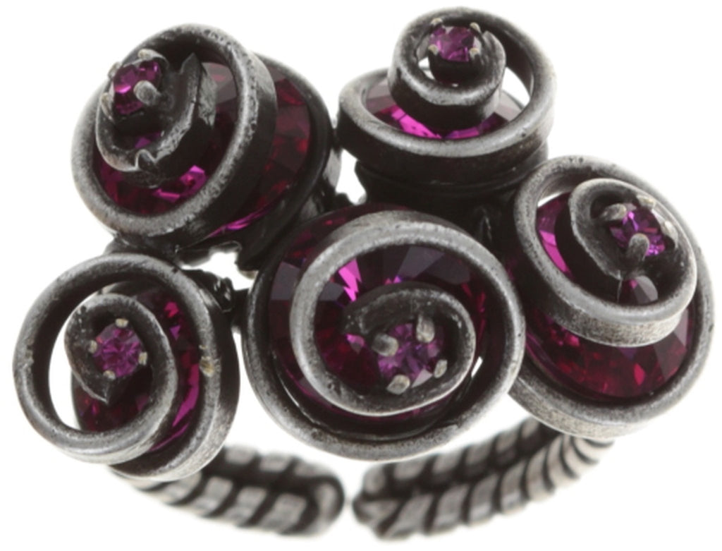 ring Classic Twist dark rose antique silver
