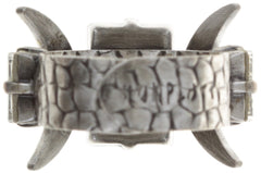 ring Art Deco Oriental white antique silver