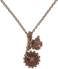 necklace pendant In Honor of the Rose red antique copper