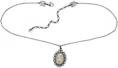 necklace pendant Chinoiserie white antique silver