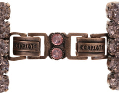 bracelet Chameleon brown/pink antique copper
