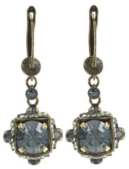 earring dangling Byzantine grey antique brass