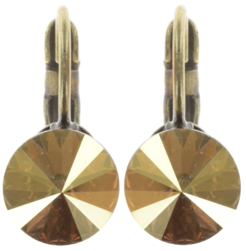 earring eurowire Rivoli yellow antique brass SS 39