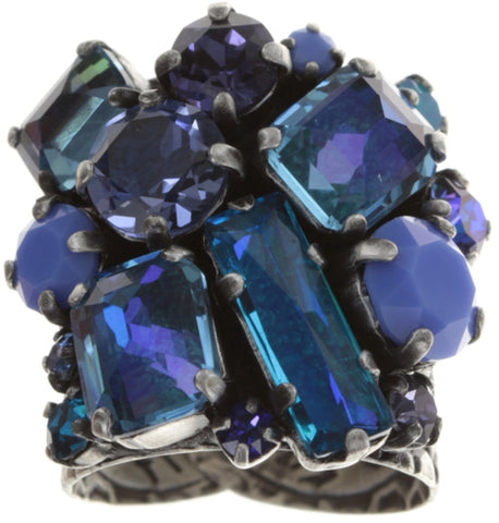 ring To Katharine With Love II blue antique silver