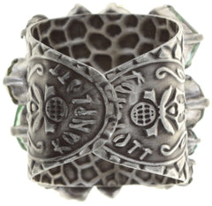 ring To Katharine With Love II green antique silver