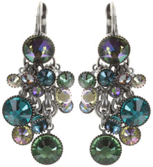 earring eurowire dangling Waterfalls green/lila Light antique silver