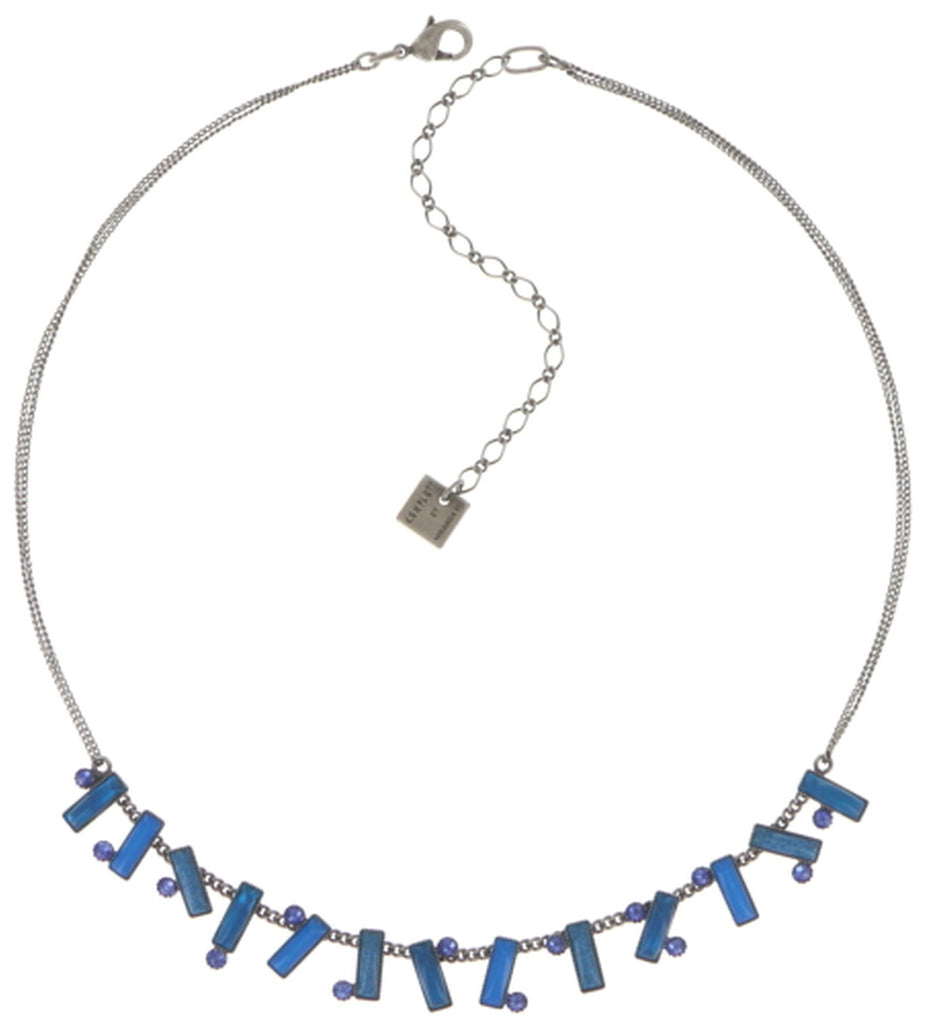 necklace Small Tones Beating dark blue antique silver