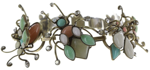 bracelet Bug Me Now pastel multi antique brass