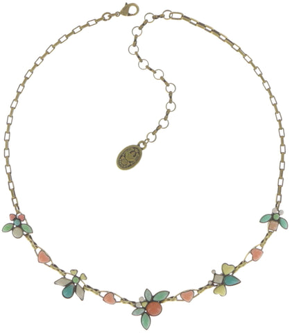 necklace Bug Me Now pastel multi antique brass