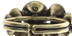 ring Petit Glamour brown antique brass