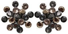 earring stud Magic Fireball black/grey antique silver Classic Size (21mm Ø)