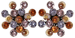 earring stud Magic Fireball brown/lila antique brass Classic Size (21mm Ø)