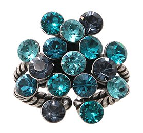 ring Magic Fireball blue/green antique silver Classic Size (21mm Ø)
